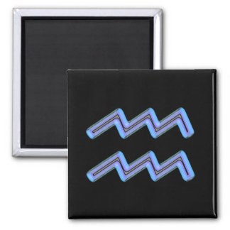 Aquarius Star Sign Symbol 2 Inch Square Magnet