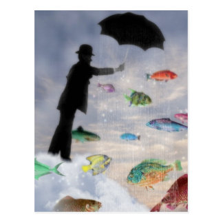 Aquarius- Surrealist Zodiac Postcard
