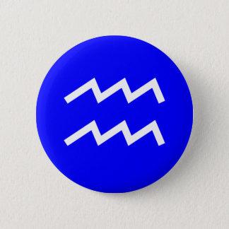 Aquarius Symbol - Customized Pinback Button