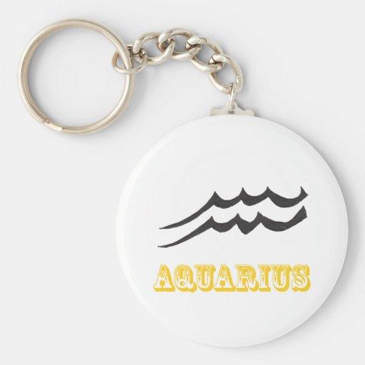 Aquarius symbol Keychain
