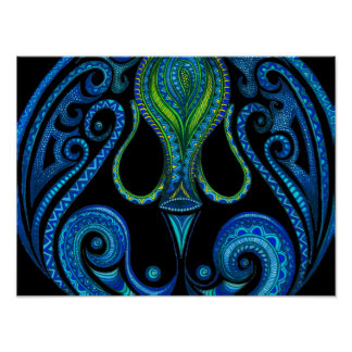 Aquarius Symbol Poster