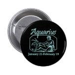 Aquarius Teal 2 Inch Round Button