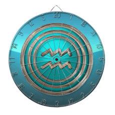 Aquarius - The Water Bearer Astrological Sign Dart Board