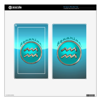 Aquarius | The Water Bearer Astrological Sign Decal For Kindle Fire