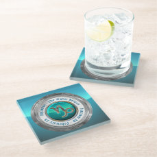 Aquarius - The Water Bearer Astrological Sign Glass Coaster