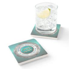 Aquarius - The Water Bearer Astrological Sign Stone Coaster