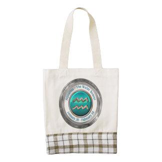 Aquarius - The Water Bearer Astrological Sign Zazzle HEART Tote Bag
