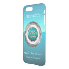 Aquarius - The Water Bearer Astrological Symbol iPhone 7 Plus Case