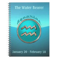 Aquarius - The Water Bearer Horoscope Sign Notebook