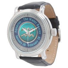Aquarius - The Water Bearer Horoscope Sign Wrist Watch