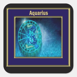 Aquarius the Water Bearer Horoscope Square Sticker