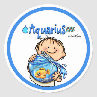 Aquarius - The Water Bearer Stickers