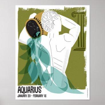 Art Themed Aquarius the Water Bearer Zodiac Poster