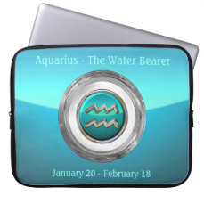 Aquarius - The Water Bearer Zodiac Sign Computer Sleeve