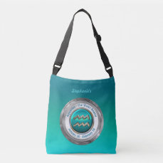 Aquarius - The Water Bearer Zodiac Sign Crossbody Bag