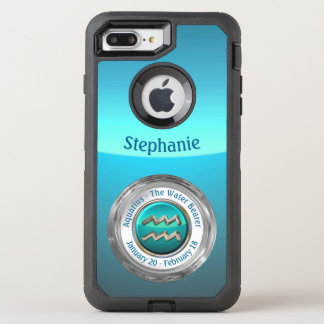 Aquarius - The Water Bearer Zodiac Sign OtterBox Defender iPhone 8 Plus/7 Plus Case
