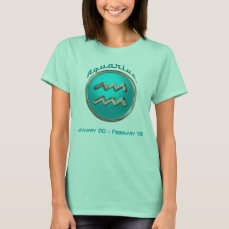 Aquarius - The Water Bearer Zodiac Sign T-Shirt