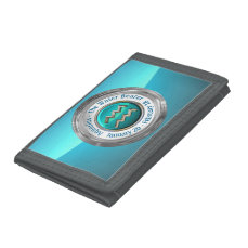Aquarius - The Water Bearer Zodiac Symbol Trifold Wallet