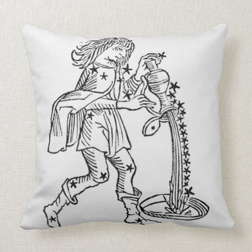 Aquarius (the Water Carrier) an illustration from Pillow