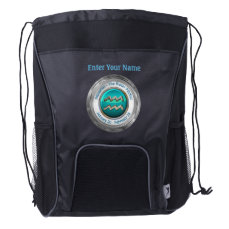 Aquarius - The Water Pitcher Astrological Sign Drawstring Backpack