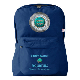 Aquarius - The Water Pitcher Horoscope Sign American Apparel™ Backpack