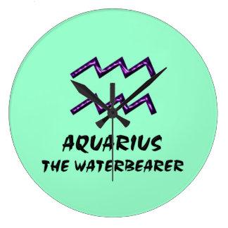 Aquarius the waterbearer clock
