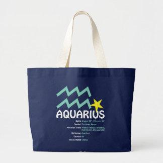 Aquarius Traits Dark Tote