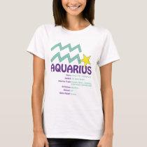 Aquarius Traits Ladies T-Shirt