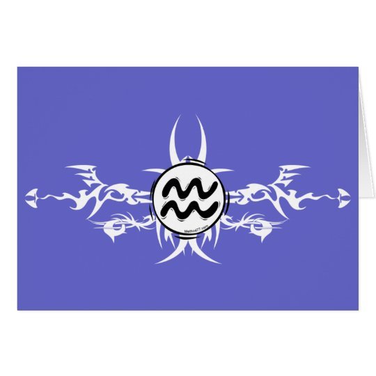 Aquarius Tribal Card