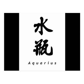 Aquarius (V) Chinese Calligraphy Design 1 Postcard