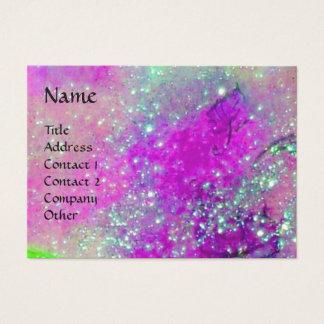 AQUARIUS ,violet purple gold yellow Business Card