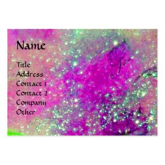 AQUARIUS ,violet purple gold yellow Large Business Card
