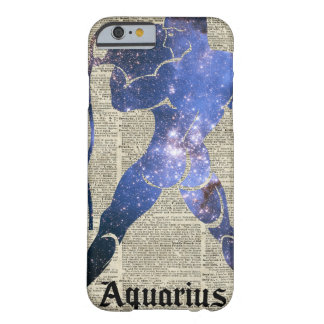 Aquarius Water Zodiac Sign Over Old Book Page Barely There iPhone 6 Case