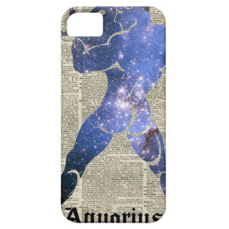 Aquarius Water Zodiac Sign Over Old Book Page iPhone SE/5/5s Case