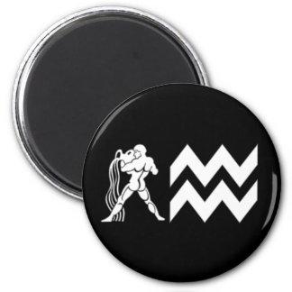 Aquarius with  Symbol 2 Inch Round Magnet