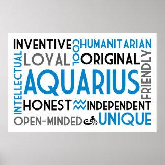 Aquarius Word Collage Print