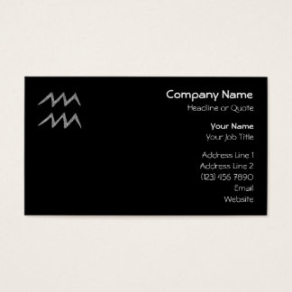 Aquarius. Zodiac Astrology Sign. Business Card
