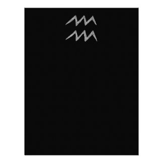 Aquarius. Zodiac Astrology Sign. Letterhead Design