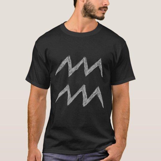 Aquarius. Zodiac Astrology Sign. T-Shirt