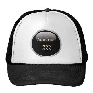 Aquarius zodiac astrology star sign hat, cap trucker hat
