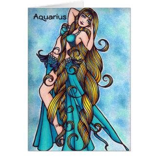 Aquarius Zodiac Belly Dance Card