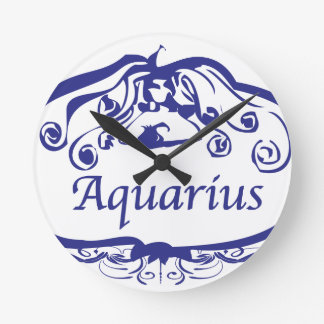 Aquarius Zodiac Round Wallclocks