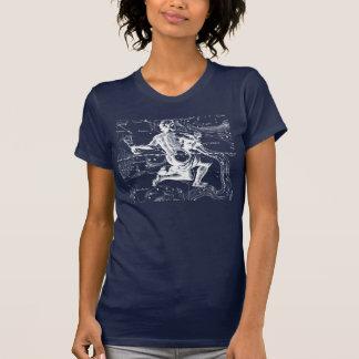 Aquarius Zodiac Constellation Engraving Hevelius T-Shirt