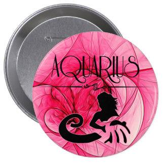 Aquarius Zodiac | Feminine Pink Button