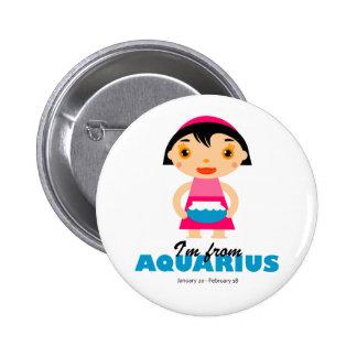 Aquarius Zodiac for kids Pinback Button