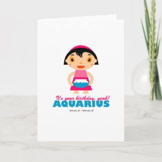 Aquarius Zodiac for kids card