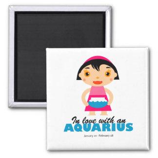 Aquarius Zodiac for kids Magnet