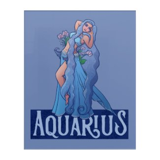 Aquarius Zodiac Goddess Belly Dancer Art Birthday