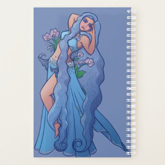 Aquarius Zodiac Goddess Belly Dancer Art Birthday Planner