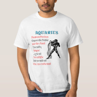 Aquarius Zodiac Horoscope Sign Tee Shirts